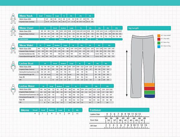 TAKOS - velikostní tabulka