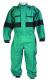 Zateplená pracovní kombinéza LUXUS kapsy krytý zip pásek v pase zeleno/černá