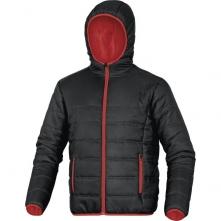 Bunda DOON do pasu řada MACH PA prošívaná zateplená kapuce černo/červená