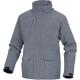 Bunda TRENTO PES/PU prodloužená kapuce stažené rukávy kapsy mramor/šedá