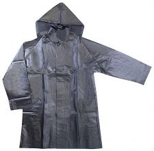 Plášť JUPITER s kapucí tříčtvrteční silně pogumovaný nepromokavý černý