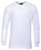 Tričko TERMO KLASIK BA/PES žebrovaný úplet dlouhý rukáv kulatý průkrčník bílé