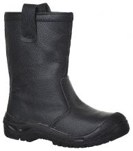 Obuv PW Steelite™ Rigger Boot Scuff Cap S3 CI kožená zateplená ochranná holínka černá