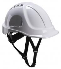 Ochranná průmyslová přilba Endurance ABS podbradní pásek račna bílá