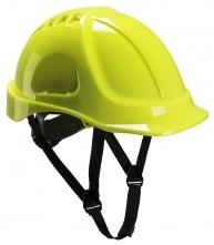 Ochranná průmyslová přilba Endurance ABS podbradní pásek račna vysoceviditelná žlutá