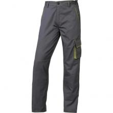 Montérkové kalhoty DELTA PLUS MACH 6 PANOSTYLE do pasu PES/bavlna rovný střih poutka na opasek šedo/zelené