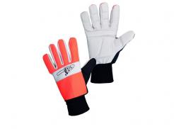 Rukavice PILA ANTI antivibrační kombinované lícová hovězina s textilem šedo/oranžové velikost XL