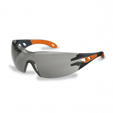 Brýle UVEX PHEOS černo/oranžový rámeček SV Excellence nemlživé nepoškrábatelné šedé