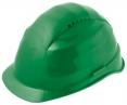 Ochranná přilba ROCKMAN C6 HDPE zesílený vrchlík 12 ventilačních otvorů látkový kříž protažená v zátylku zelená
