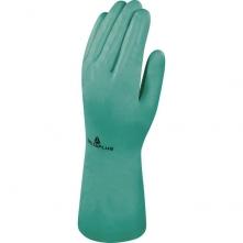Rukavice DELTA NITREX 801 nitrilové bez podšívky textura na dlaňové části délka 330 mm zelené