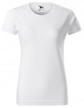 Tričko Basic dámské kulatý průkrčník bavlna 160g krátký rukáv bílé