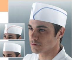 Čepice lodička potravinářská papírová jednorázová bez proužku bílá