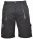 Krátké pracovní kalhoty TEXO Contrast černo/šedé velikost S