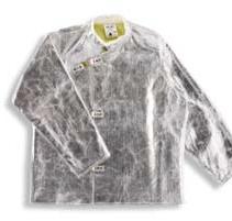 Kabátek slévačský K-370 aramid/sklo 500 g/m2 pokovený tepluodolný zapínání na spony délka 800 mm