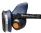 Polomaska SUNDSTRÖM SR 100 upevnění pro centrální filtr 2 výdechové ventily světle modrá velikost S/M