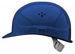 Přilba VOSS MASTER 6 bodový látkový kříž větrací otvory modrá