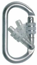 Karabina AZ011 ocelová pojistný výklopný šroubovací uzávěr s otvorem 18 mm