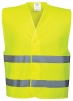 Vesta výstražná Vest-Port PES Warp Knit zapínání na suchý zip 2 vodorovné reflexní pruhy HV žlutá