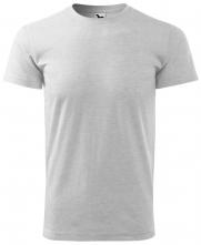 Tričko Malfini Basic 160 bavlněné s viskózou bezešvý střih trupu kulatý průkrčník silikonová úprava světle šedý melír