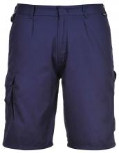 Montérkové kraťasy COMBAT dvojité prošití PES/bavlna 210g tmavě modré