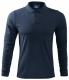 Polokošile Single Jersey 180 dlouhý rukáv tmavě modrá velikost XXL
