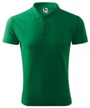 Polokošile PIQUE 200 směsový materiál středně zelená velikost L