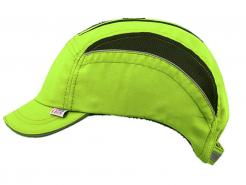Čepice se skořepinou VOSS Cap NEO reflexní výpustky ventilační zóny krátký kšilt svítivě žlutá