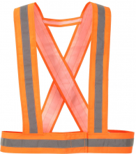 Popruhy výstražné HV CROSS 1 vodorovný+2 svislé reflexní pruhy oranžové