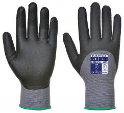 Rukavice DermiFlex Ultra nylonový úplet se Spandexem povrstvený PU a nitrilem šedé