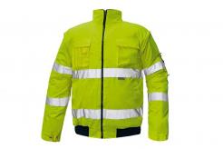 Bunda CLOVELLY PILOT 2v1 odepínatelné rukávy zateplená nepromokavá HV žlutá