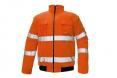 Bunda CLOVELLY PILOT 2v1 odepínatelné rukávy zateplená nepromokavá HV oranžová