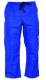Montérkové kalhoty KLASIK do pasu na šňůrku bavlna středně modré