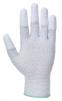 Rukavice PW PU Fingertip ESD pylon/uhlík/PU bezešvé antistatické máčené špičky prstů šedé