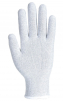 Rukavice PW Knittip ESD pylon/uhlík/PU bezešvé antistatické úplet 15 pružná manžeta šedé