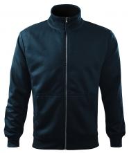 Mikina Adventure 300 BA/PES pánská kovový zip šikmé boční kapsy náplety stojáček tmavě modrá