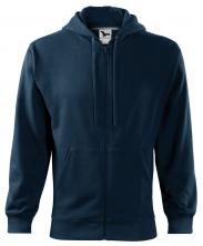 Mikina MALFINI TRENDY ZIPPER BA/PES 320g kapuce pánská klokanka zip kapsy tmavě modrá