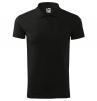 Polokošile Single Jersey 180 bavlna hladká krátký rukáv 2 knoflíky žebrovaný límec černá