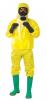 Kombinéza JETGUARD 3B kapuce pružný pas lepící léga přes zip Typ 3,4,5 žlutá