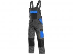 Montérkové kalhoty CXS Phoenix Cronos laclové PES/BA zesílená kolena šedo/černo/modré