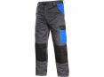 Montérkové kalhoty CXS Phoenix Cefeus do pasu PES/BA zesílená kolena šedo/černo/modré