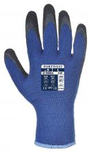Rukavice Thermal Grip úplet PES potažený latexem zateplené modro/černé