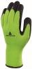Rukavice DELTA APOLLON WINTER pletené 100% Akryl zateplené dlaň a prsty potažené pěnovým latexem žluto/černé