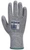 Rukavice CUTRESIST PLUS MR úplet HPPE/sklo úplet 13 dlaň a prsty potažené PU šedé