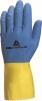 Rukavice DELTA DUOCOLOR 330 latexové délka 300 mm modro/žluté
