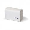 Čistící bezsilikonové antistatické papírky UVEX na brýle balení 700 ks bílé