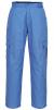 Antistatické pracovní kalhoty do pasu ESD pohodlné 6 kapes pružný pas světle modré
