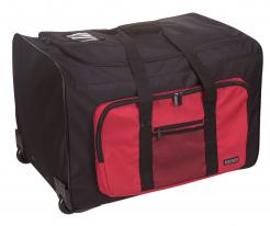 Taška PW MULTI-POCKET TROLLE 65 x 45x 33 cm 96 litrů PES transportní kolečka výsuvné madlo černo/červená