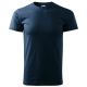 Tričko Basic 160 bavlněné kulatý výstřih silikonová úprava tmavě modrá