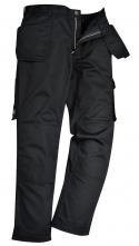 Montérkové kalhoty PW SLATE do pasu PES/BA 300g měchové montážní kapsy černé