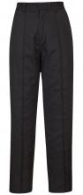 Kalhoty PW FANCY LADY dámské do pasu PES/BA vypasované částečně elastický pas ozdobný středový šev černé